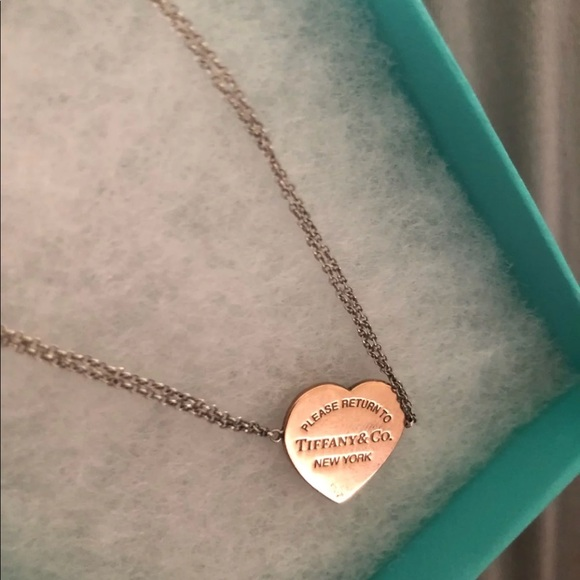 d10d7dc0e Tiffany & Co. Jewelry | Tiffany Heart Rubedo Double Chain | Poshmark